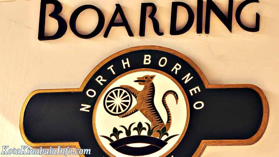 Northern Borneo Railway -Boarding Sign
