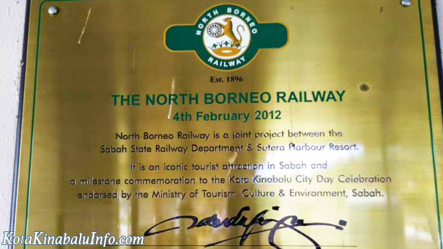 Northern Borneo Railway - Sign