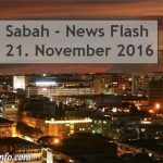 Sabah News Flash - 21. November 2016