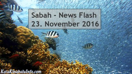 Sabah News Flash – 23. November 2016