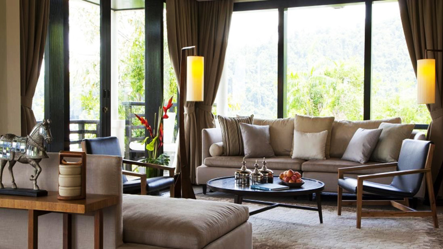 Gaya Island Resort - living room